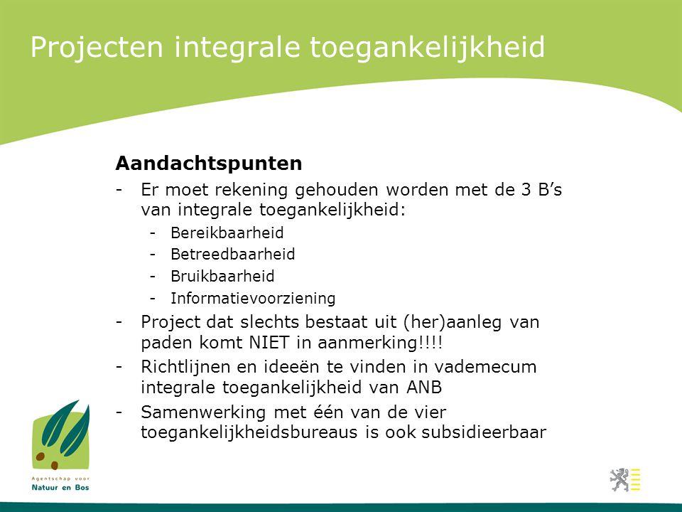 Projecten integrale toegankelijkheid