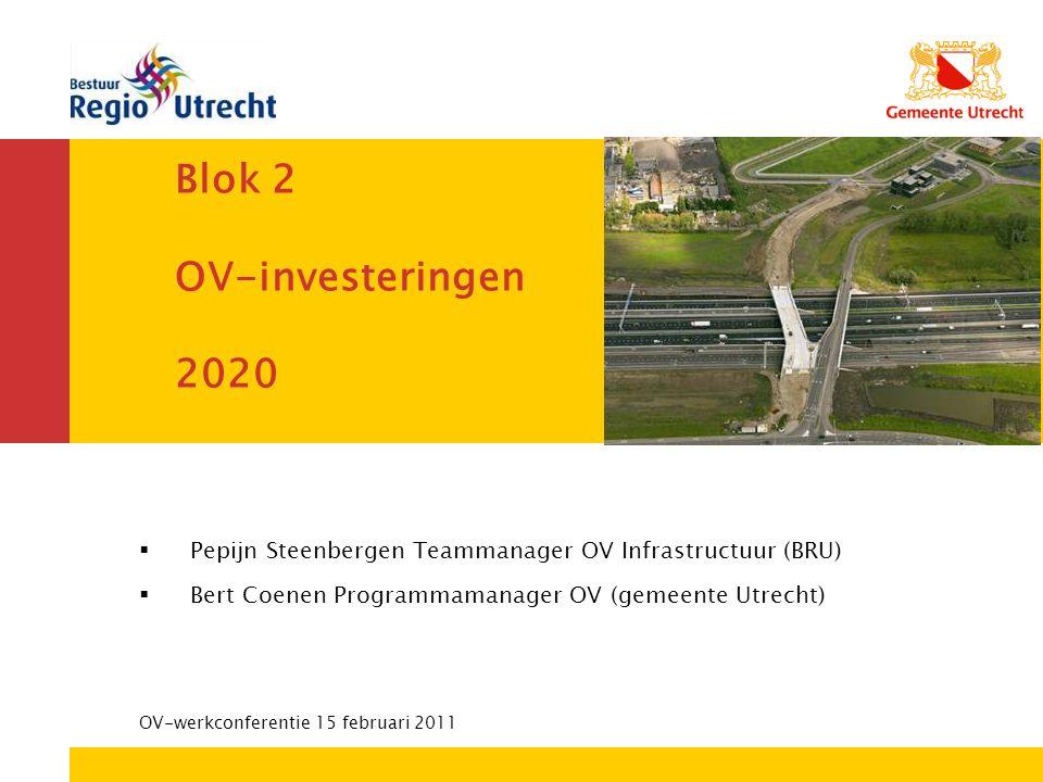 Blok 2 OV-investeringen 2020