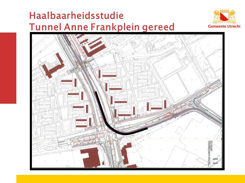 Haalbaarheidsstudie Tunnel Anne Frankplein gereed