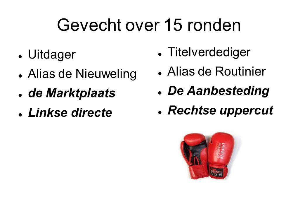 Gevecht over 15 ronden Titelverdediger Uitdager Alias de Routinier