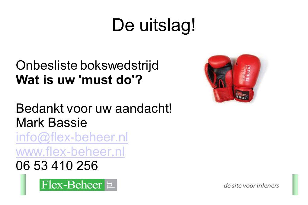 De uitslag! Onbesliste bokswedstrijd Wat is uw must do