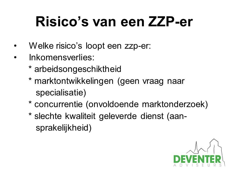 Risico's van een ZZP-er
