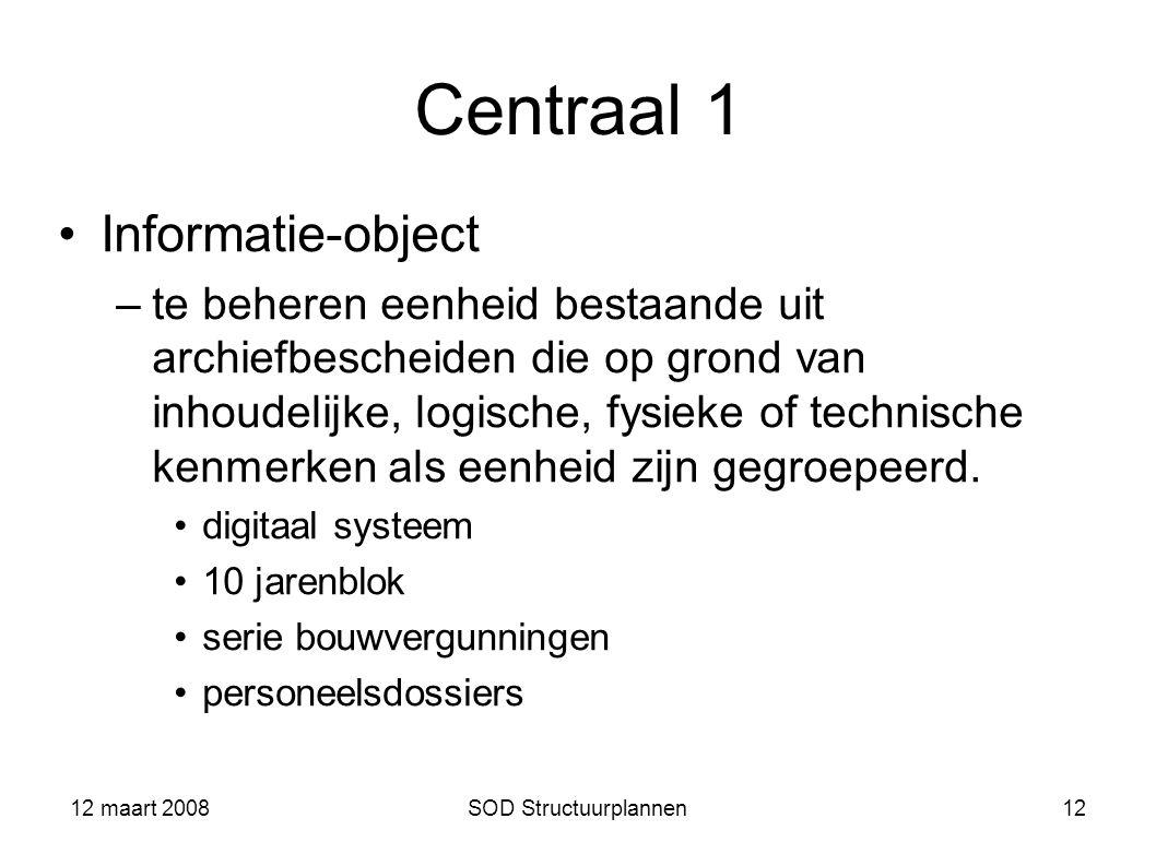 Centraal 1 Informatie-object