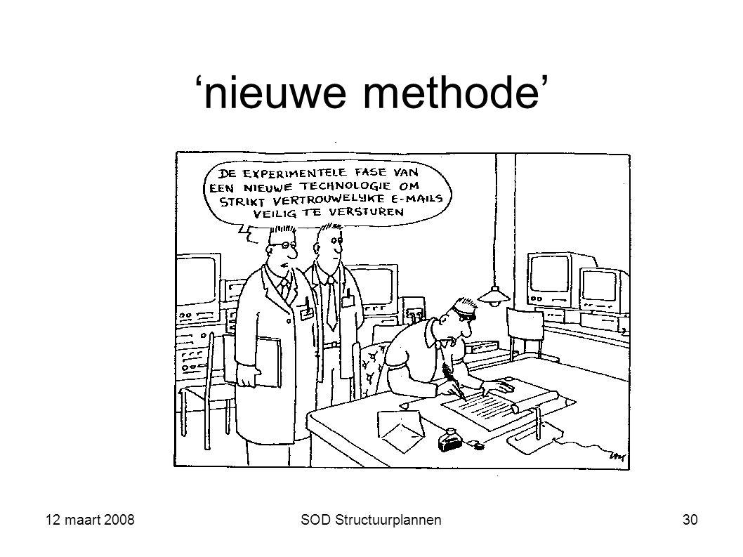 'nieuwe methode' 12 maart 2008 SOD Structuurplannen 12 maart 2008