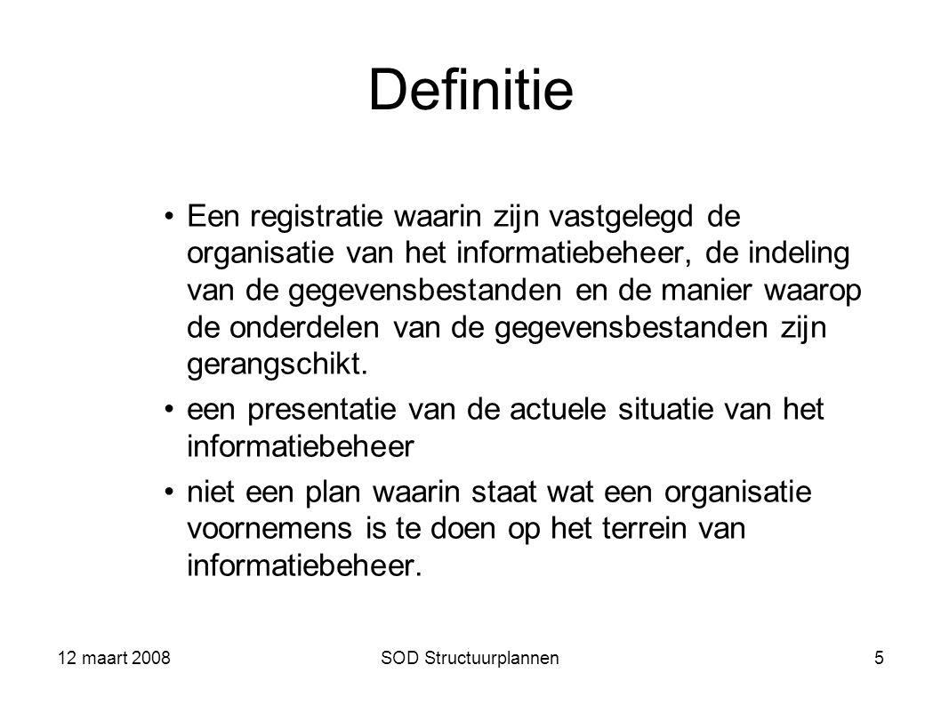 12 maart 2008 Definitie.