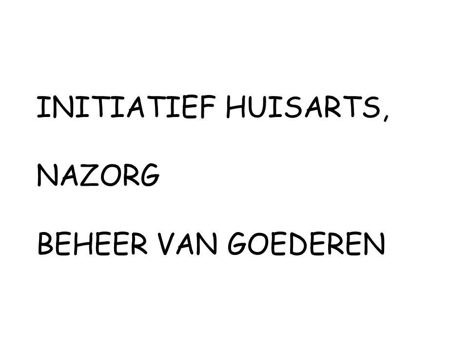 INITIATIEF HUISARTS, NAZORG BEHEER VAN GOEDEREN
