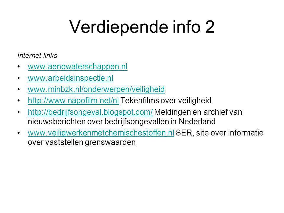 Verdiepende info 2 www.aenowaterschappen.nl www.arbeidsinspectie.nl