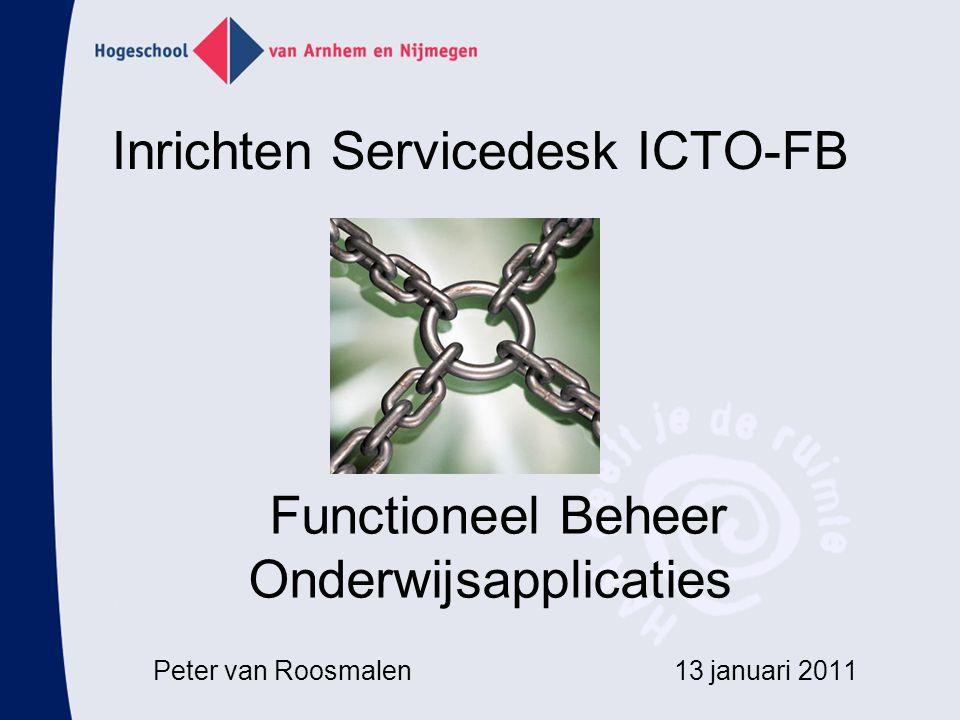Inrichten Servicedesk ICTO-FB