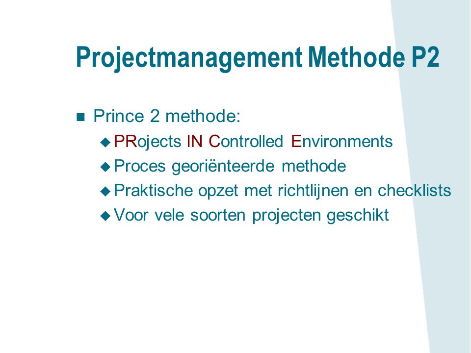 Projectmanagement Methode P2