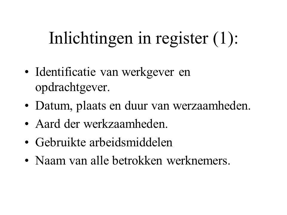 Inlichtingen in register (1):