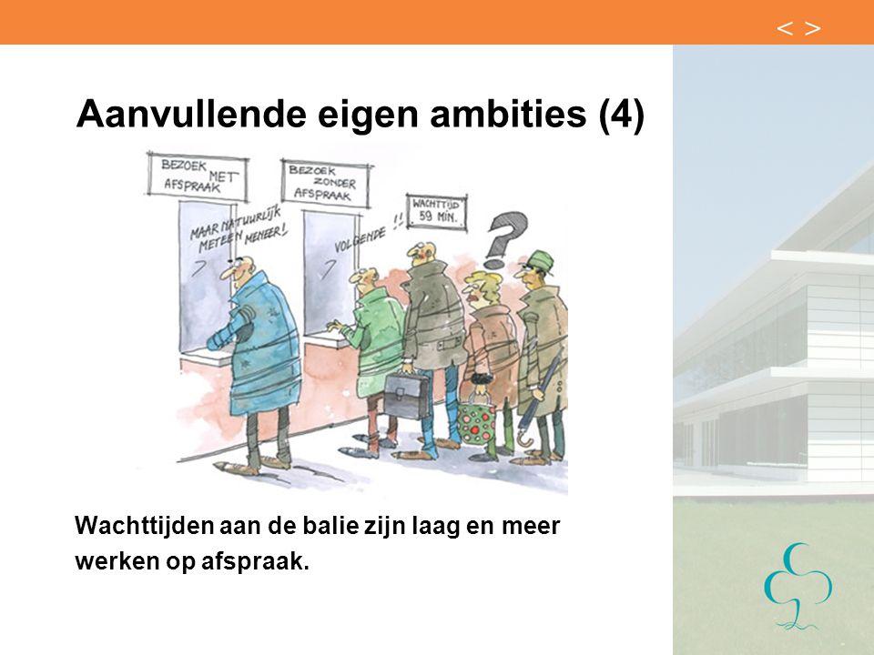 Aanvullende eigen ambities (4)