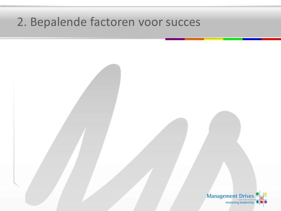2. Bepalende factoren voor succes