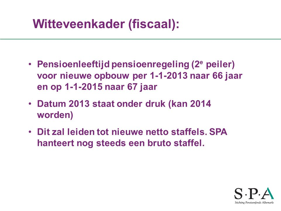 Witteveenkader (fiscaal):