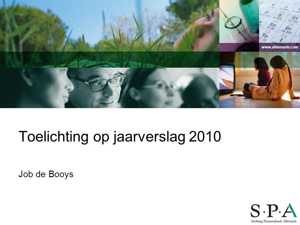 Toelichting op jaarverslag 2010