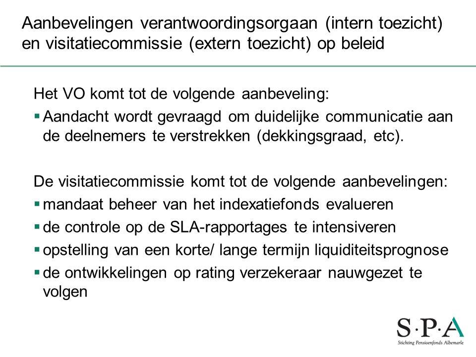 Aanbevelingen verantwoordingsorgaan (intern toezicht) en visitatiecommissie (extern toezicht) op beleid