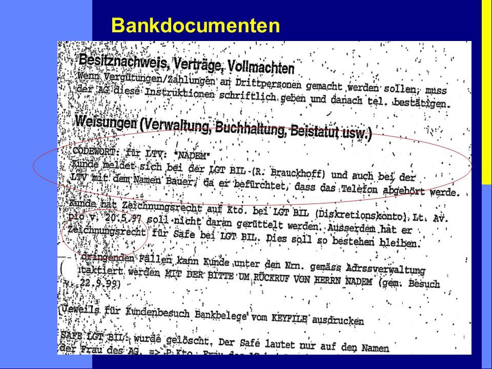 Bankdocumenten