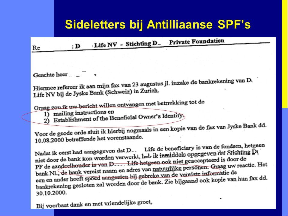 Sideletters bij Antilliaanse SPF's