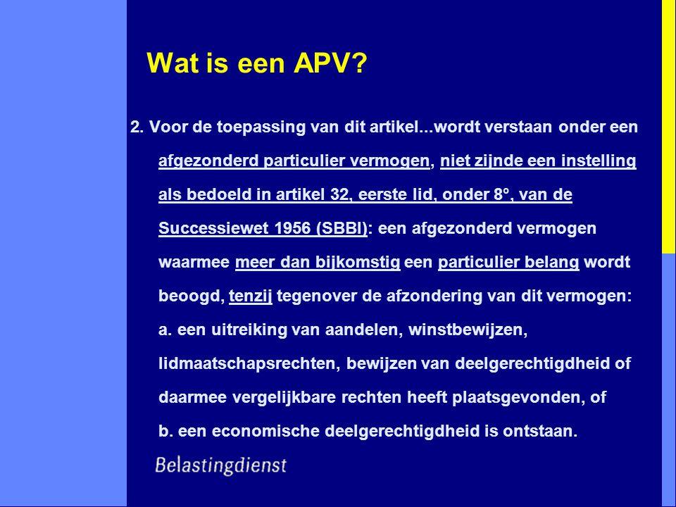 Wat is een APV