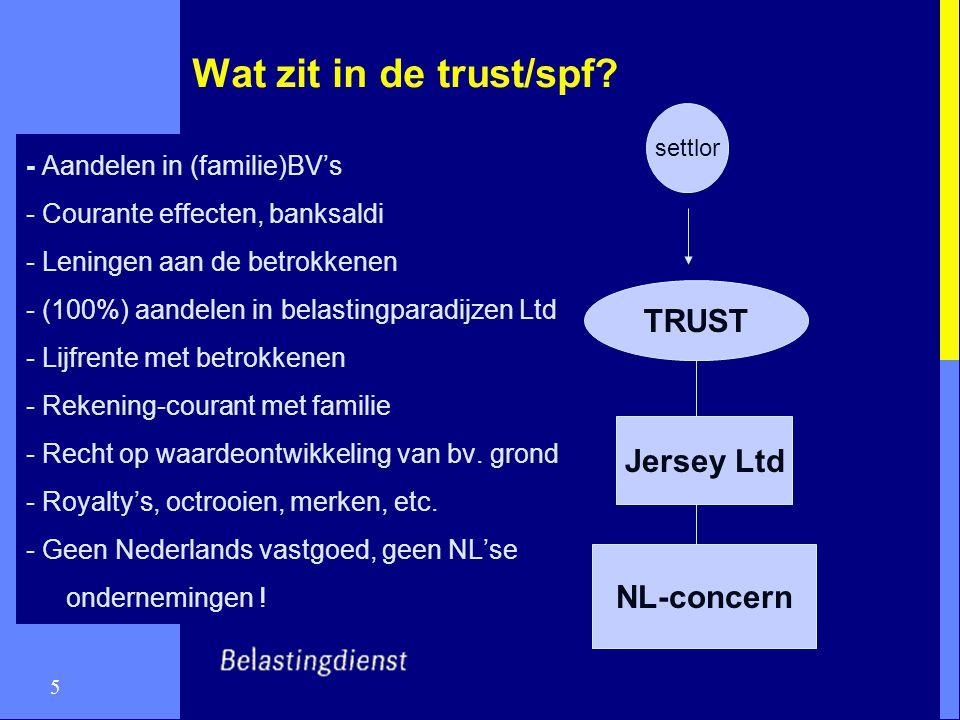 Wat zit in de trust/spf TRUST Jersey Ltd NL-concern