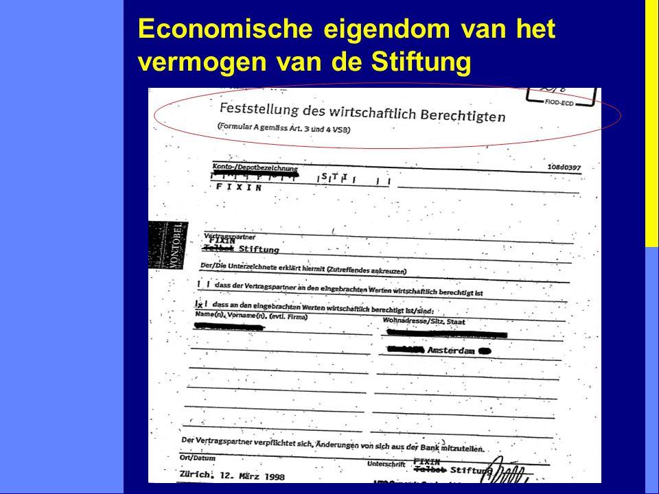 Economische eigendom van het vermogen van de Stiftung