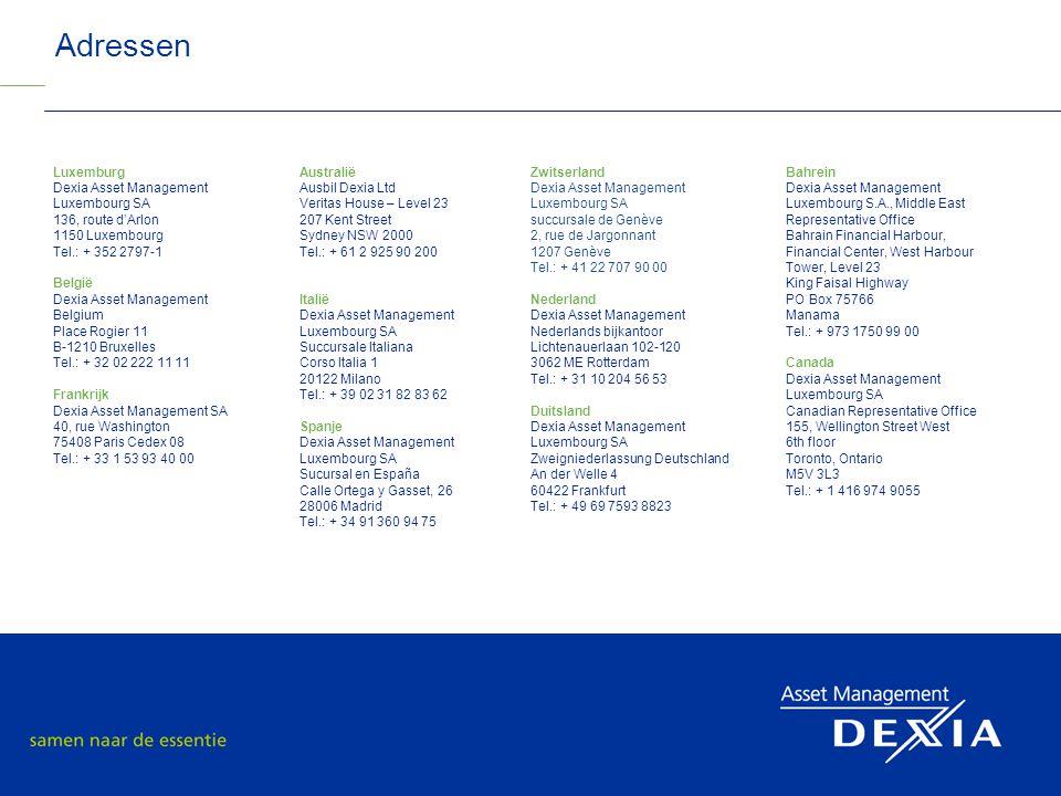 Adressen Luxemburg Dexia Asset Management Luxembourg SA