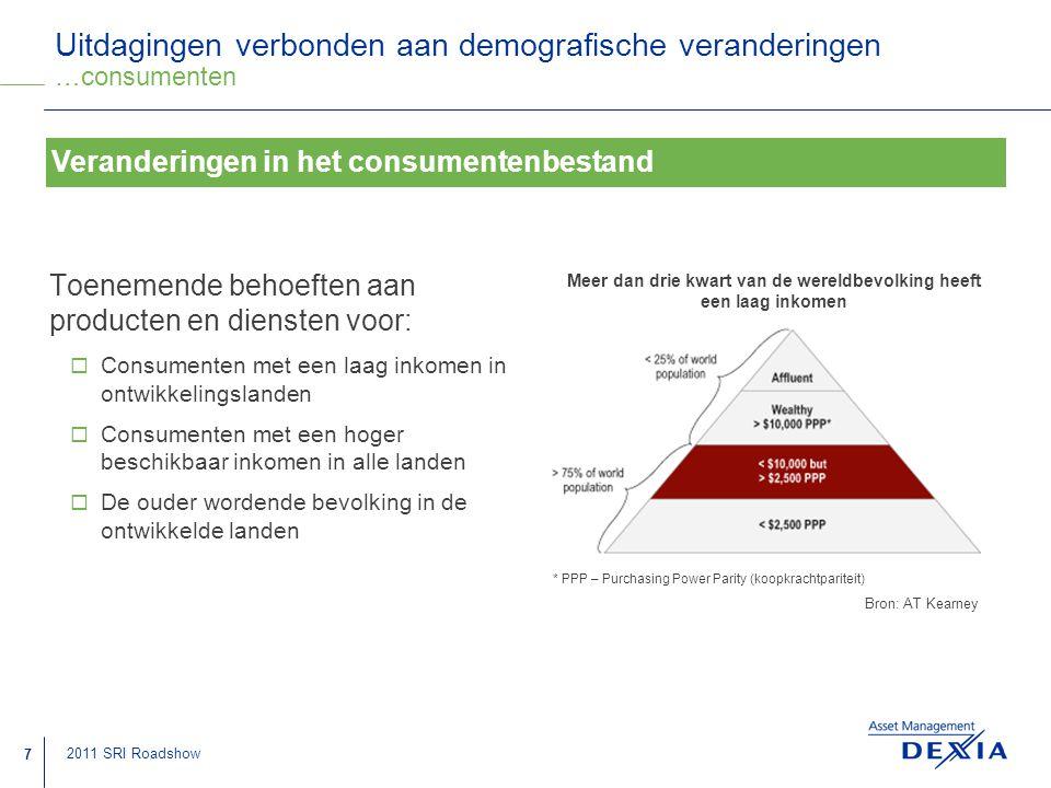 Uitdagingen verbonden aan demografische veranderingen …consumenten