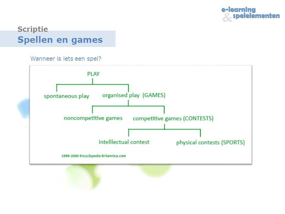 Scriptie Spellen en games Wanneer is iets een spel