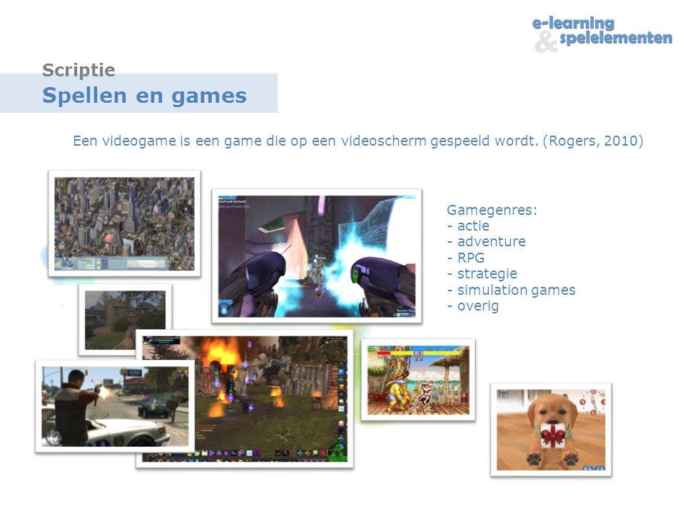Spellen en games Scriptie
