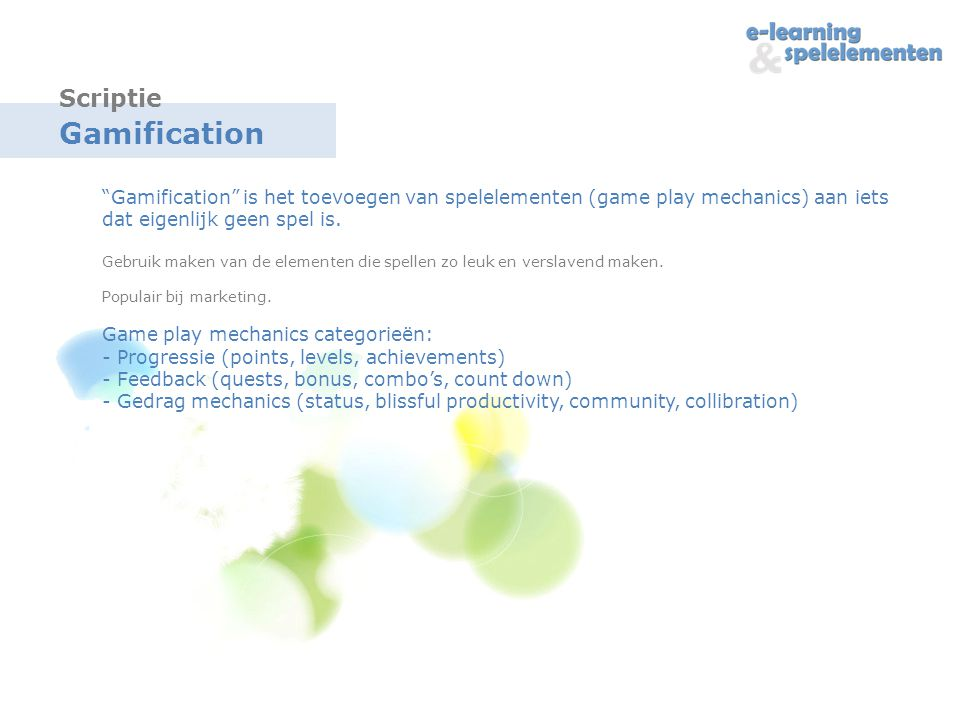 Gamification Scriptie