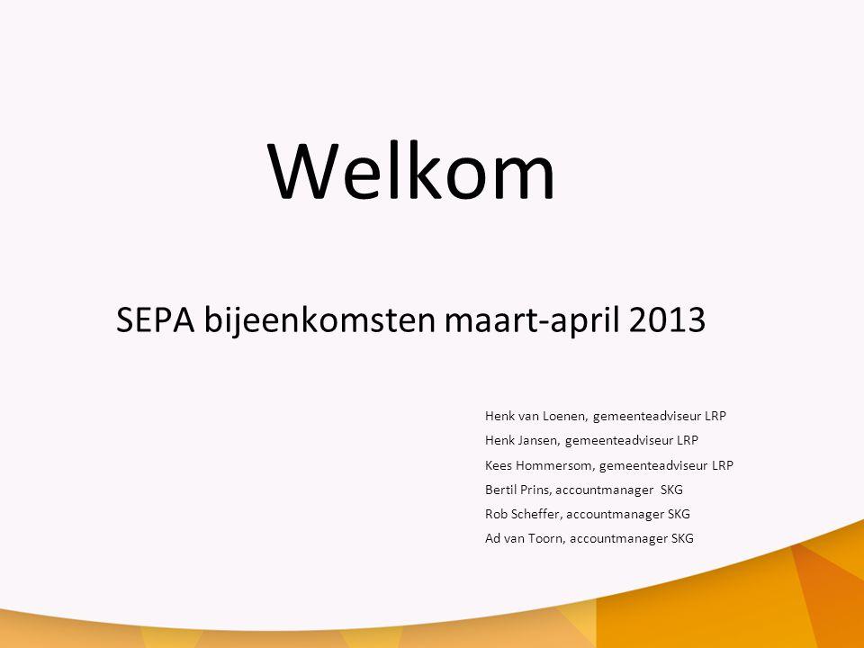 SEPA bijeenkomsten maart-april 2013