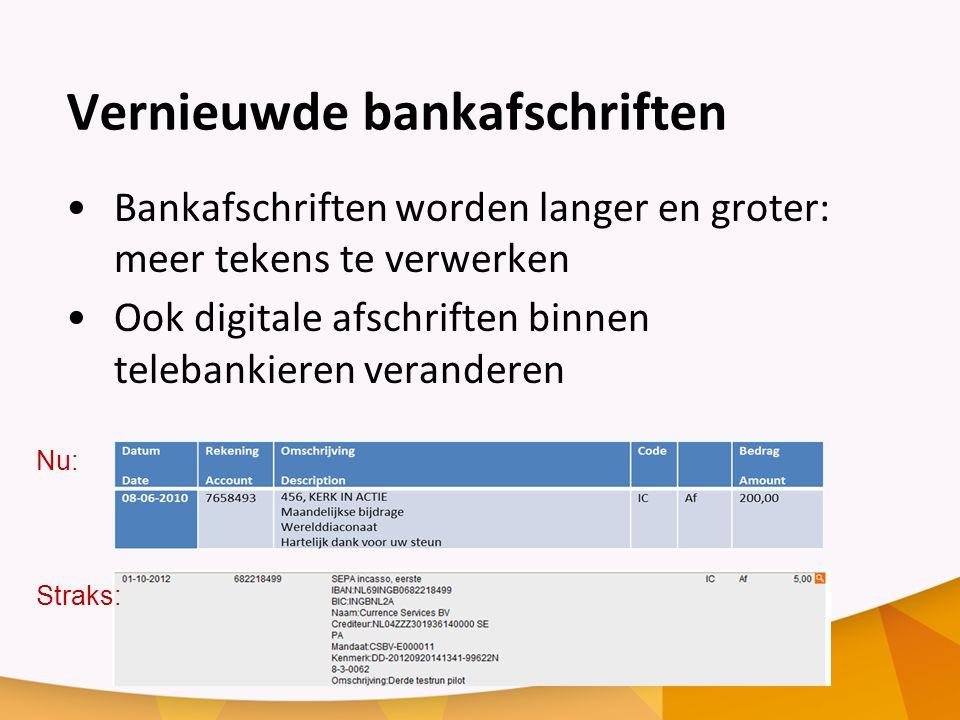 Vernieuwde bankafschriften