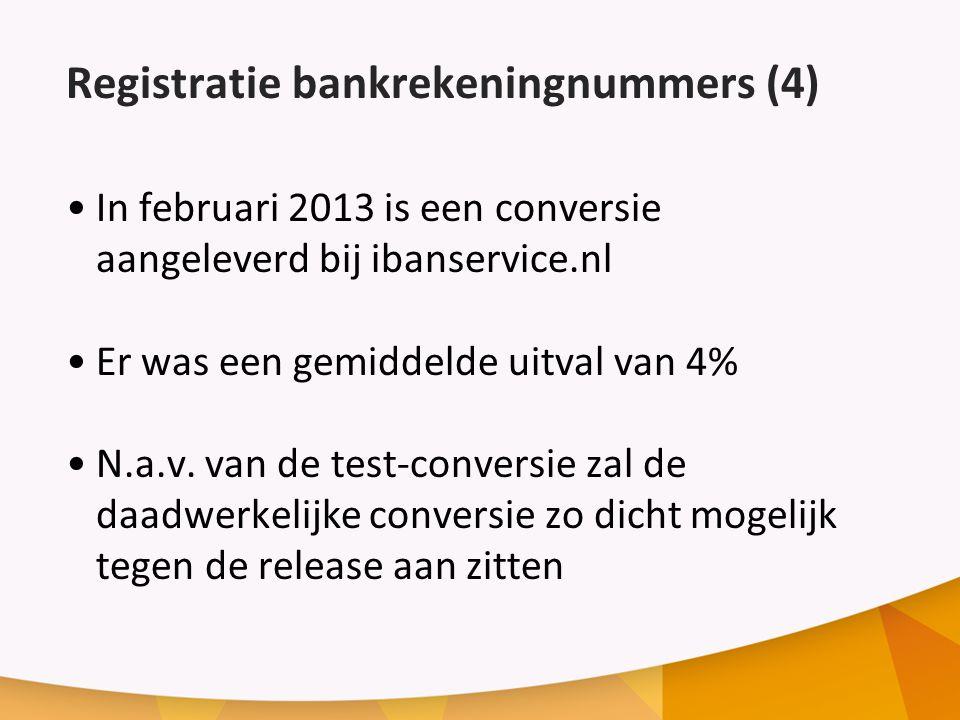 Registratie bankrekeningnummers (4)