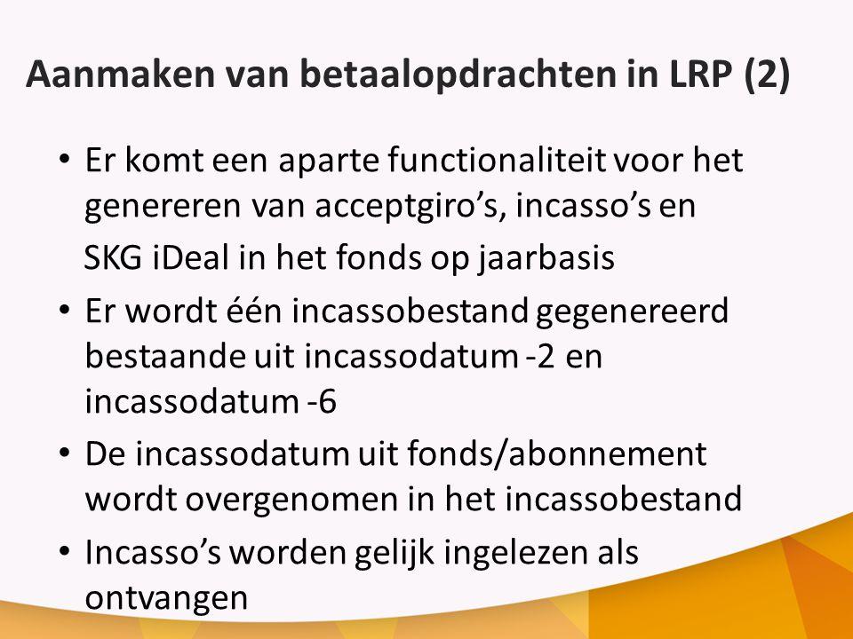 Aanmaken van betaalopdrachten in LRP (2)