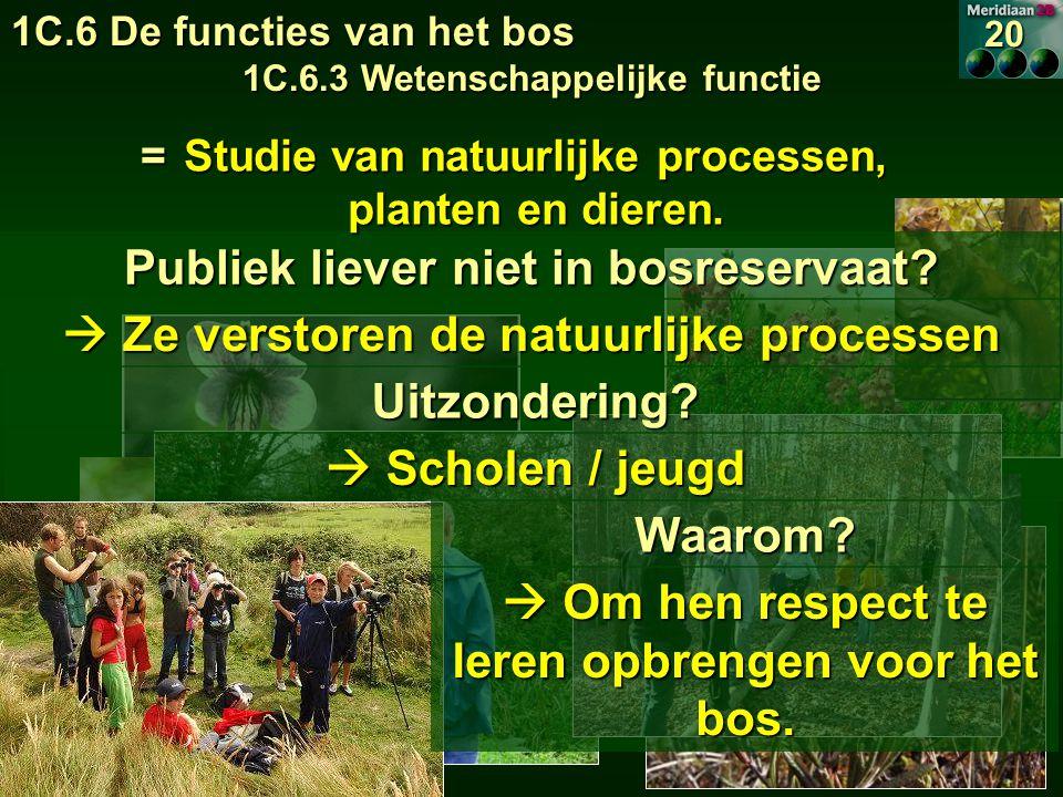 Publiek liever niet in bosreservaat