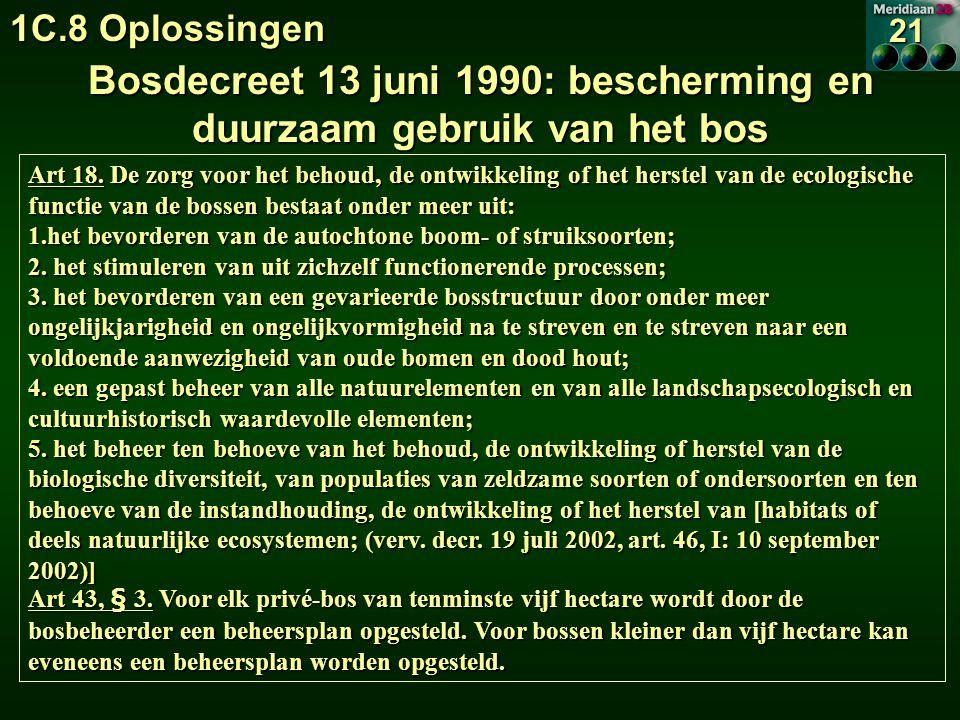 Bosdecreet 13 juni 1990: bescherming en duurzaam gebruik van het bos