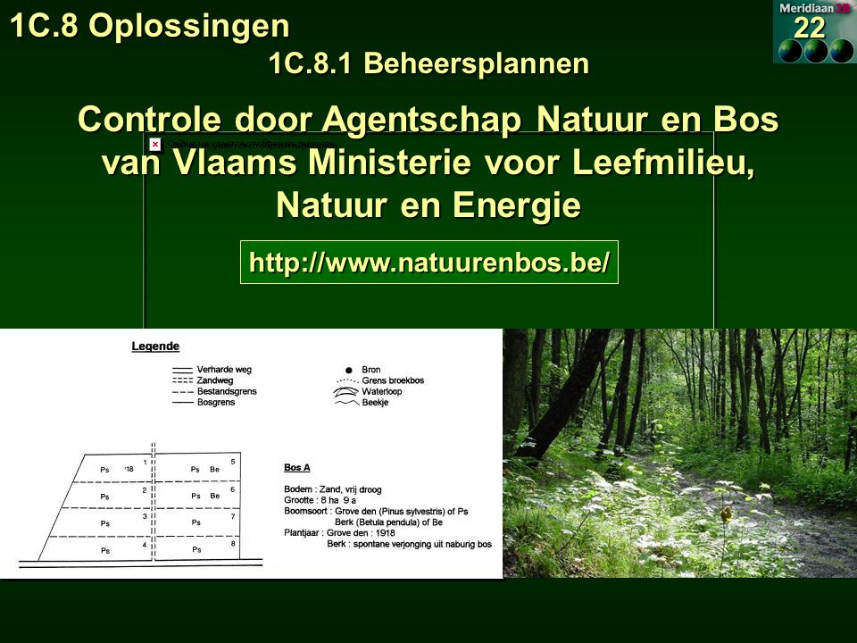 1C.8 Oplossingen 1C.8.1 Beheersplannen. 22. Controle door Agentschap Natuur en Bos van Vlaams Ministerie voor Leefmilieu, Natuur en Energie.
