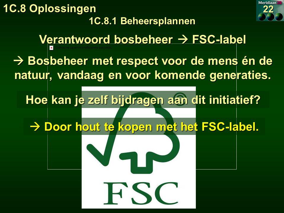 Verantwoord bosbeheer  FSC-label