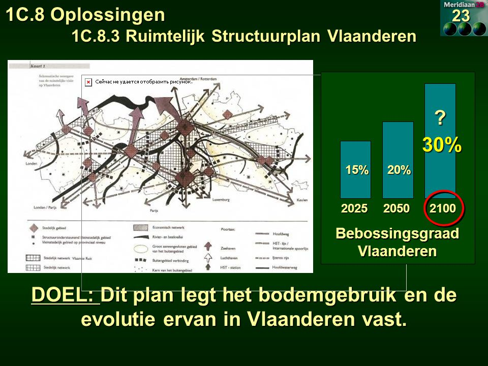 1C.8.3 Ruimtelijk Structuurplan Vlaanderen Bebossingsgraad Vlaanderen
