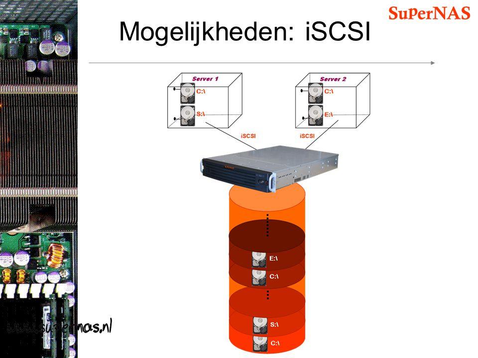 Mogelijkheden: iSCSI