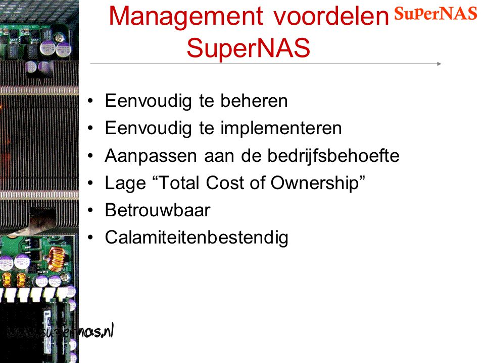Management voordelen SuperNAS