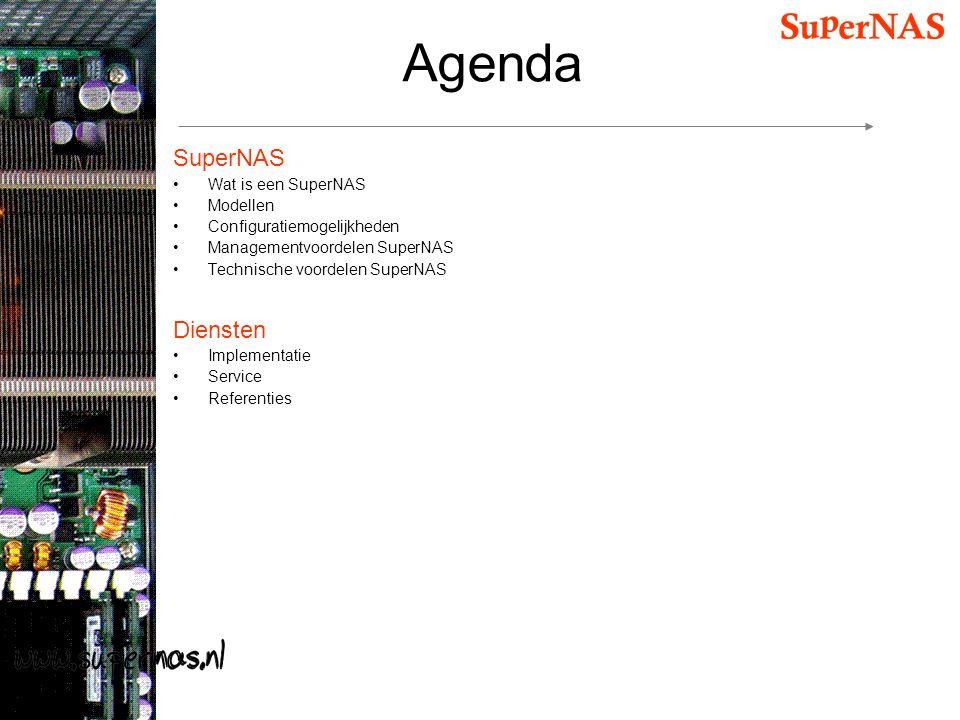 Agenda SuperNAS Diensten Wat is een SuperNAS Modellen