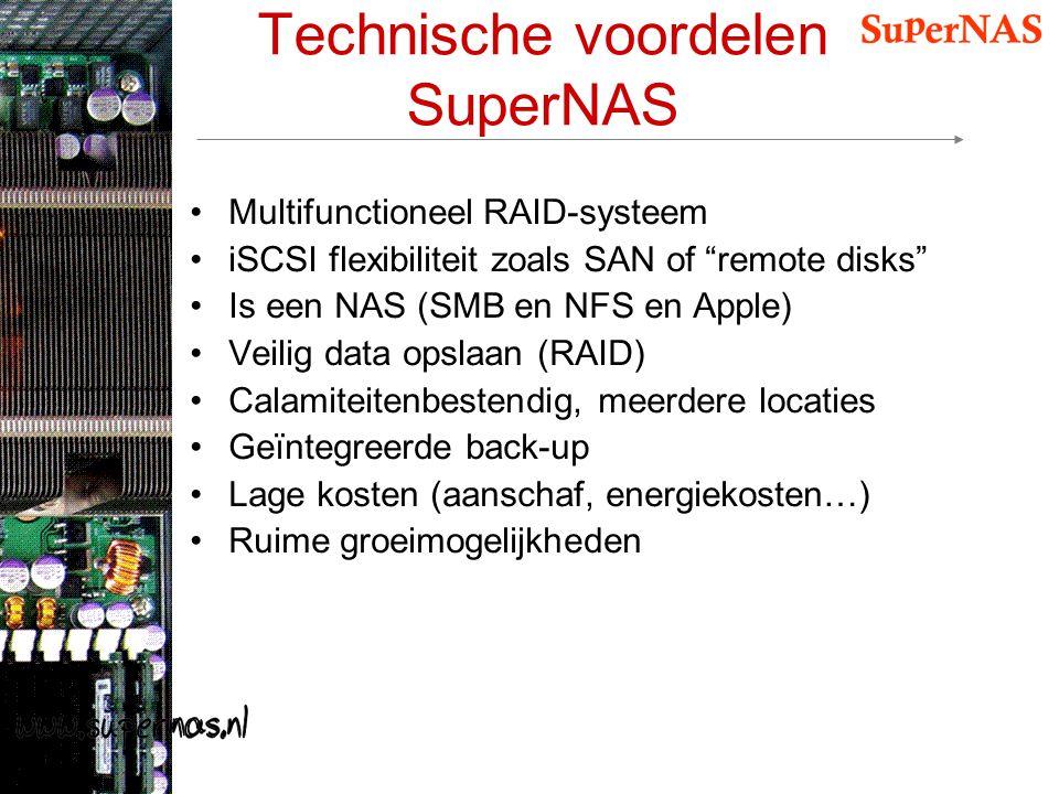 Technische voordelen SuperNAS