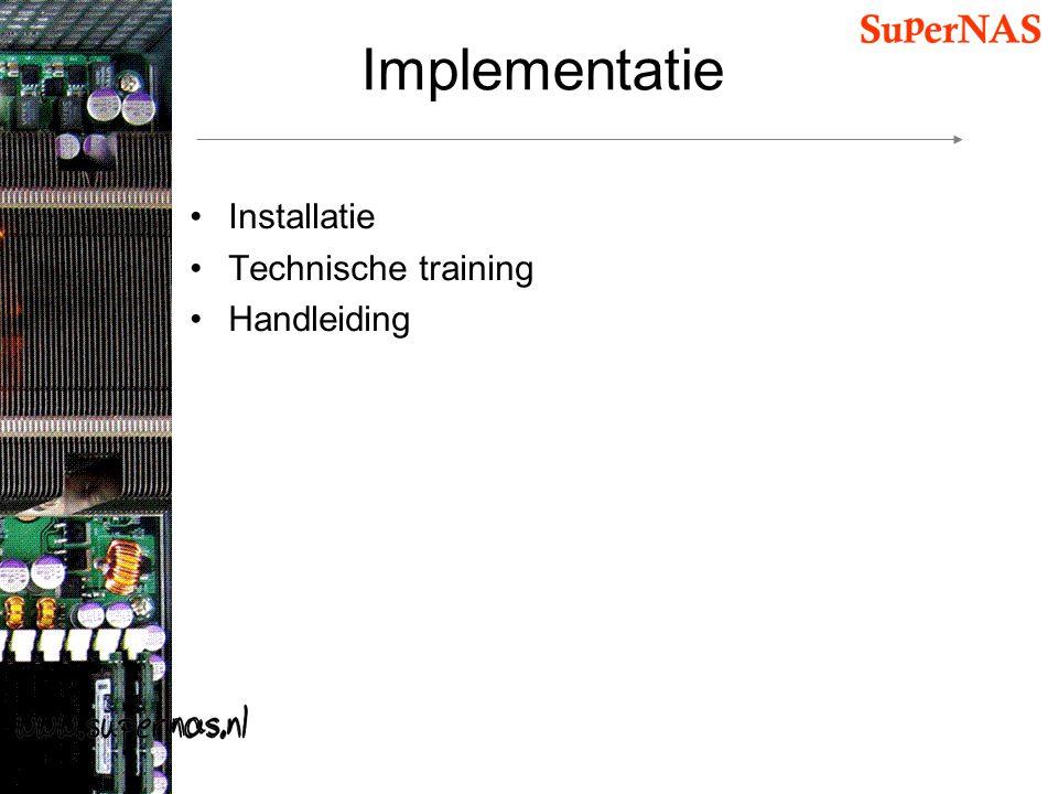 Implementatie Installatie Technische training Handleiding