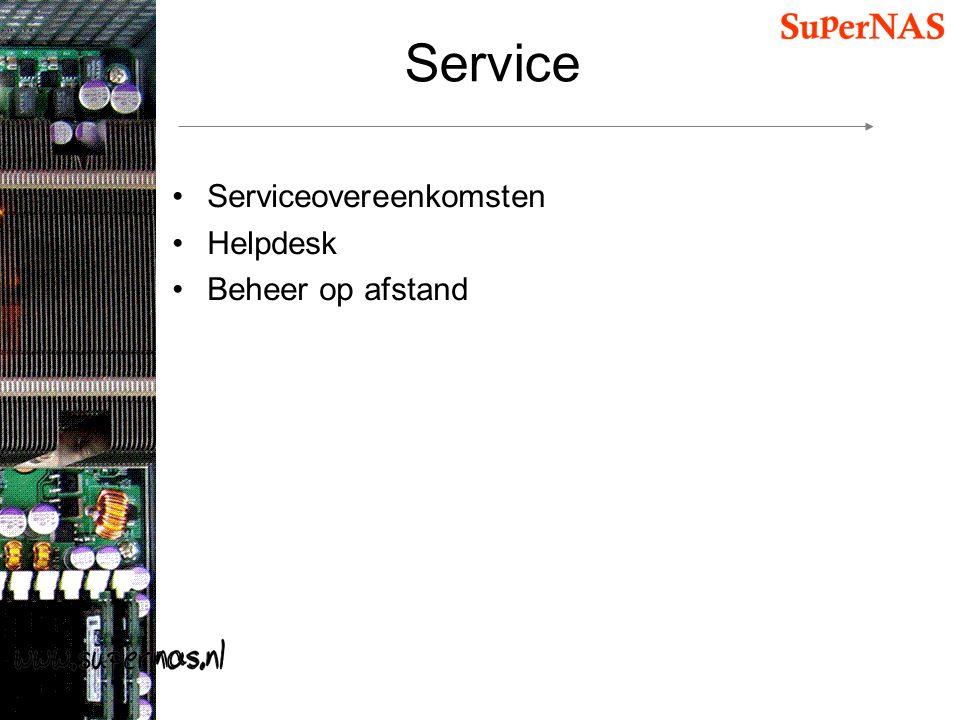 Service Serviceovereenkomsten Helpdesk Beheer op afstand