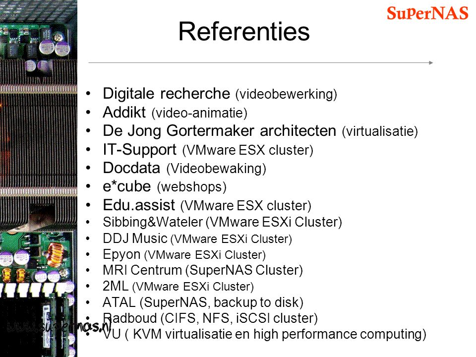 Referenties Digitale recherche (videobewerking)
