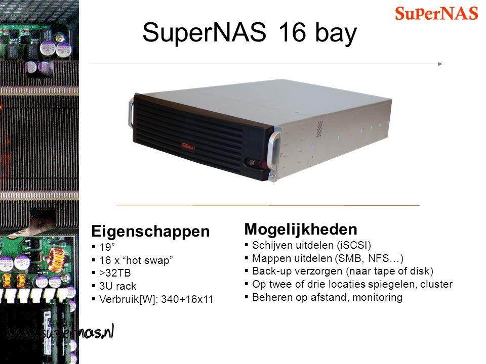 SuperNAS 16 bay Mogelijkheden Eigenschappen Schijven uitdelen (iSCSI)