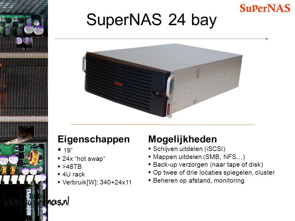 SuperNAS 24 bay Eigenschappen Mogelijkheden 19