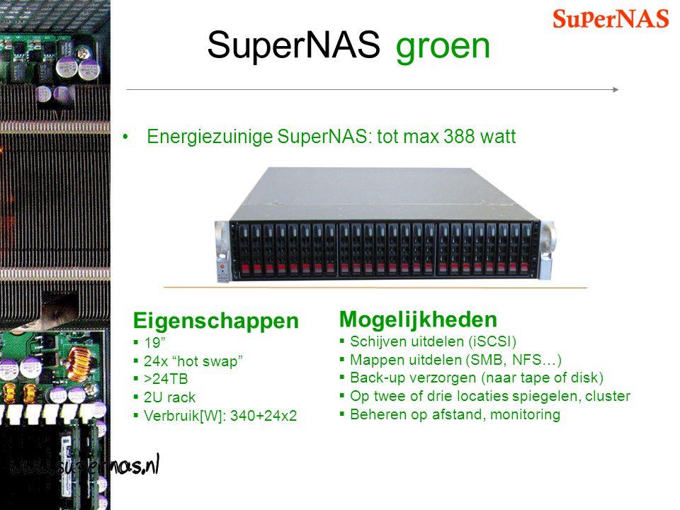SuperNAS groen Eigenschappen Mogelijkheden