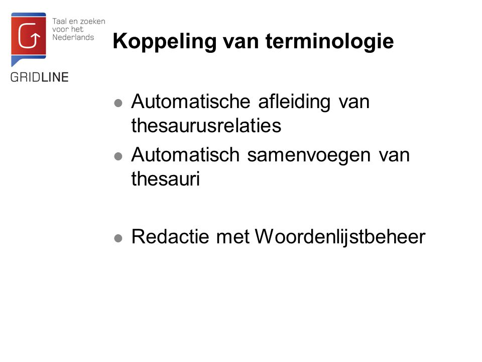 Koppeling van terminologie