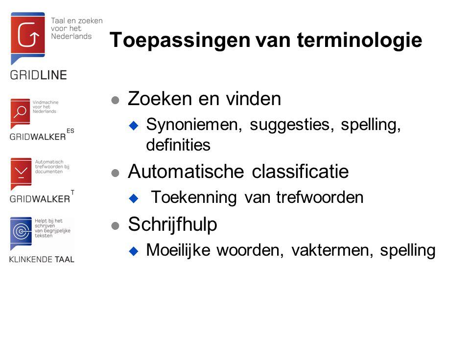 Toepassingen van terminologie